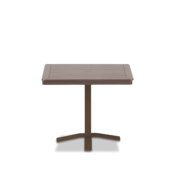 32 MGP Square Dining Height_Pedestal Table with hole