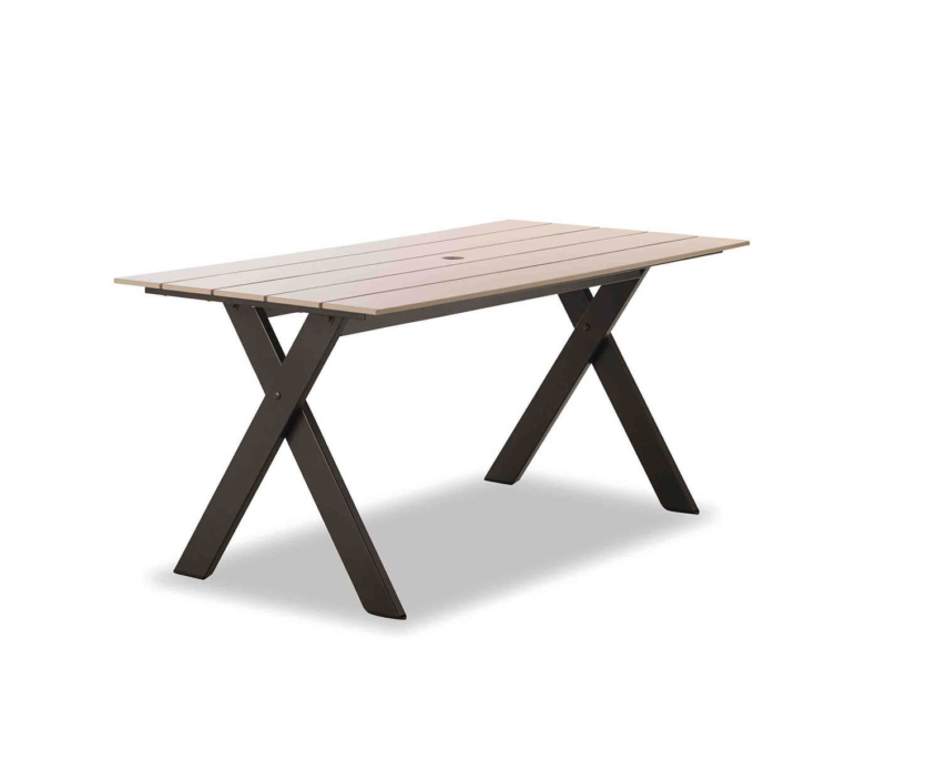 Plymouth Bay Bench 32x64 Dining Table with hole